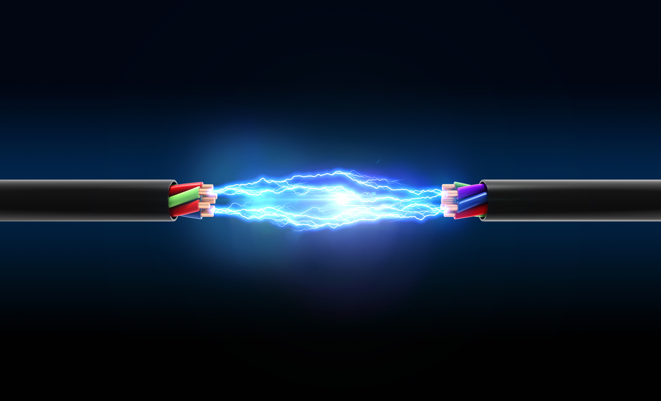 Electrical spark between two wires - Medlin Communications